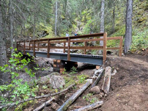 FRP Stringer Bridge for Alberta Parks